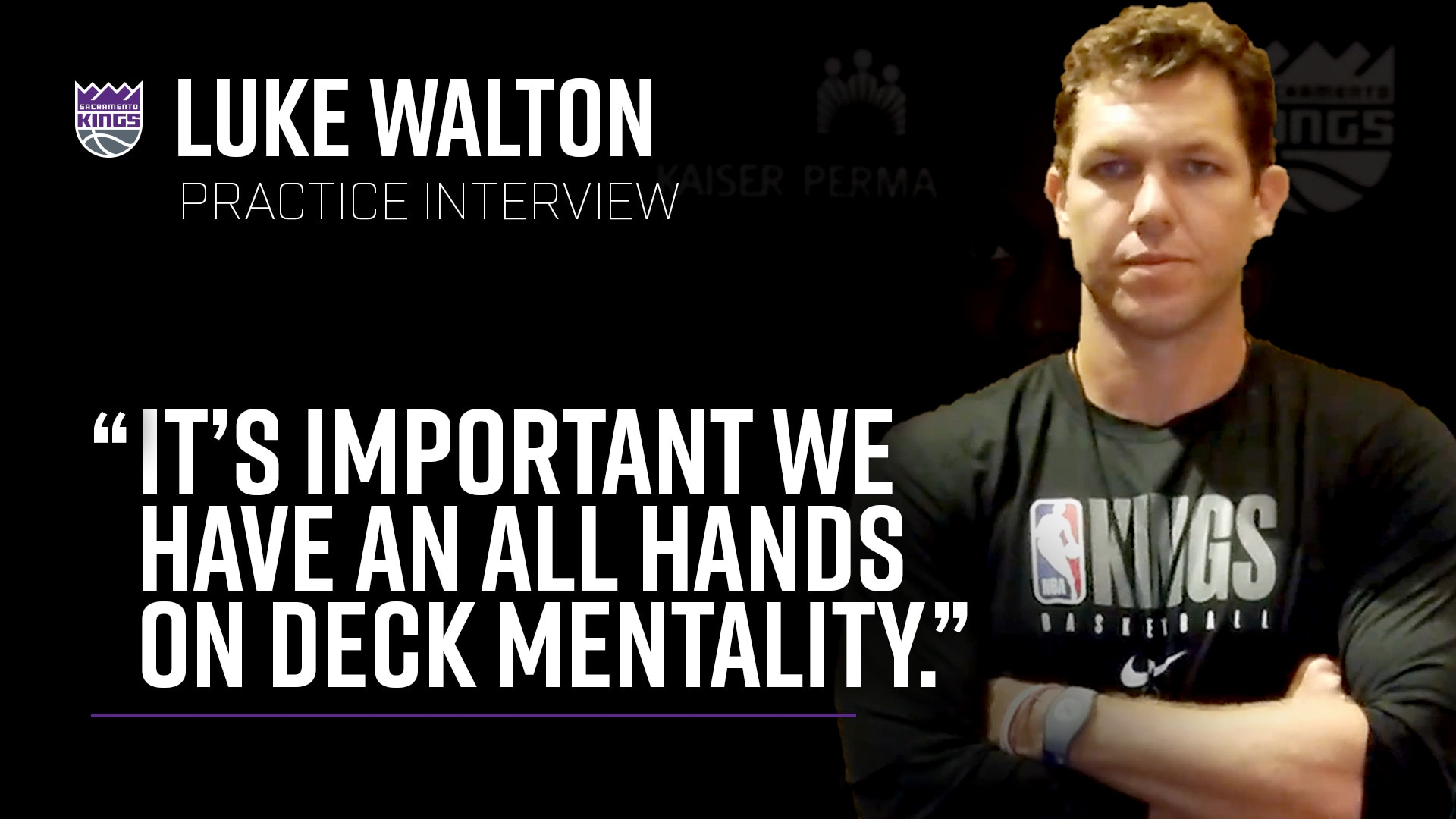 Luke Walton is Looking For All Hands on Deck | Practice Interview 7.11.20