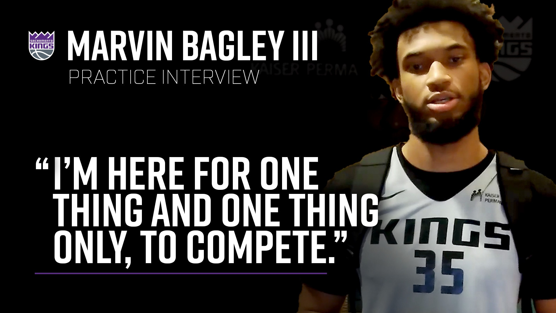 Marvin Bagley III is Ready to Compete in Orlando | Practice Interview 7.11.2020