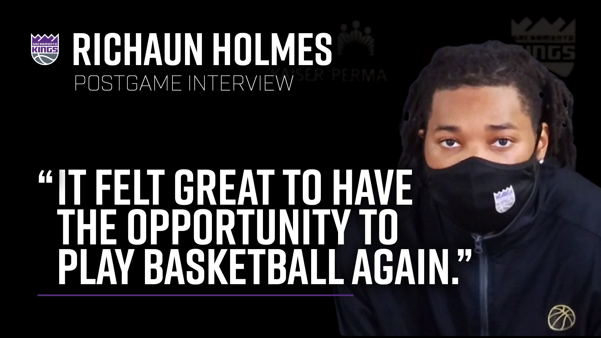 Richaun Holmes is Excited to be Back! | Kings vs. Clippers 7.27.20