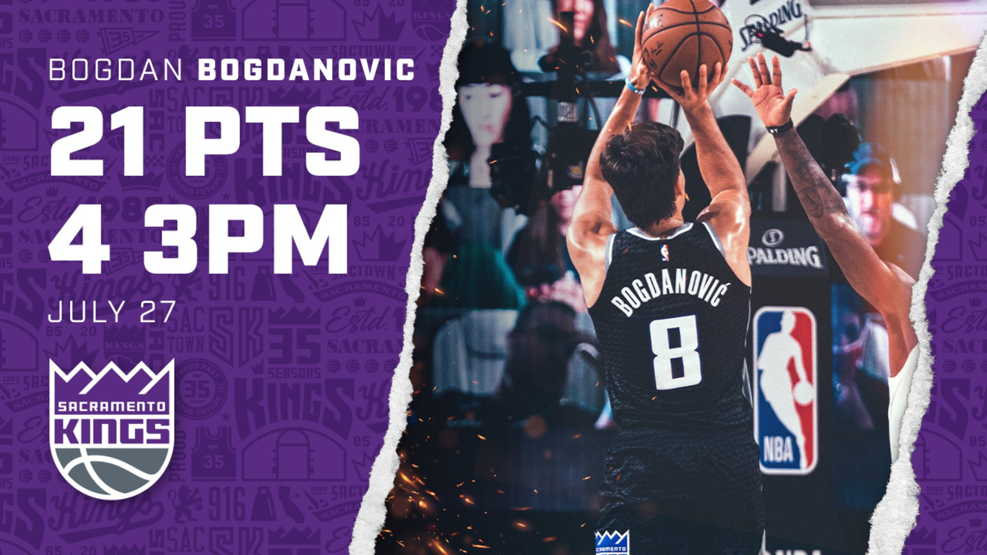 Bogi Led the Squad with Four 3PM | Kings vs Clippers 7.27.20