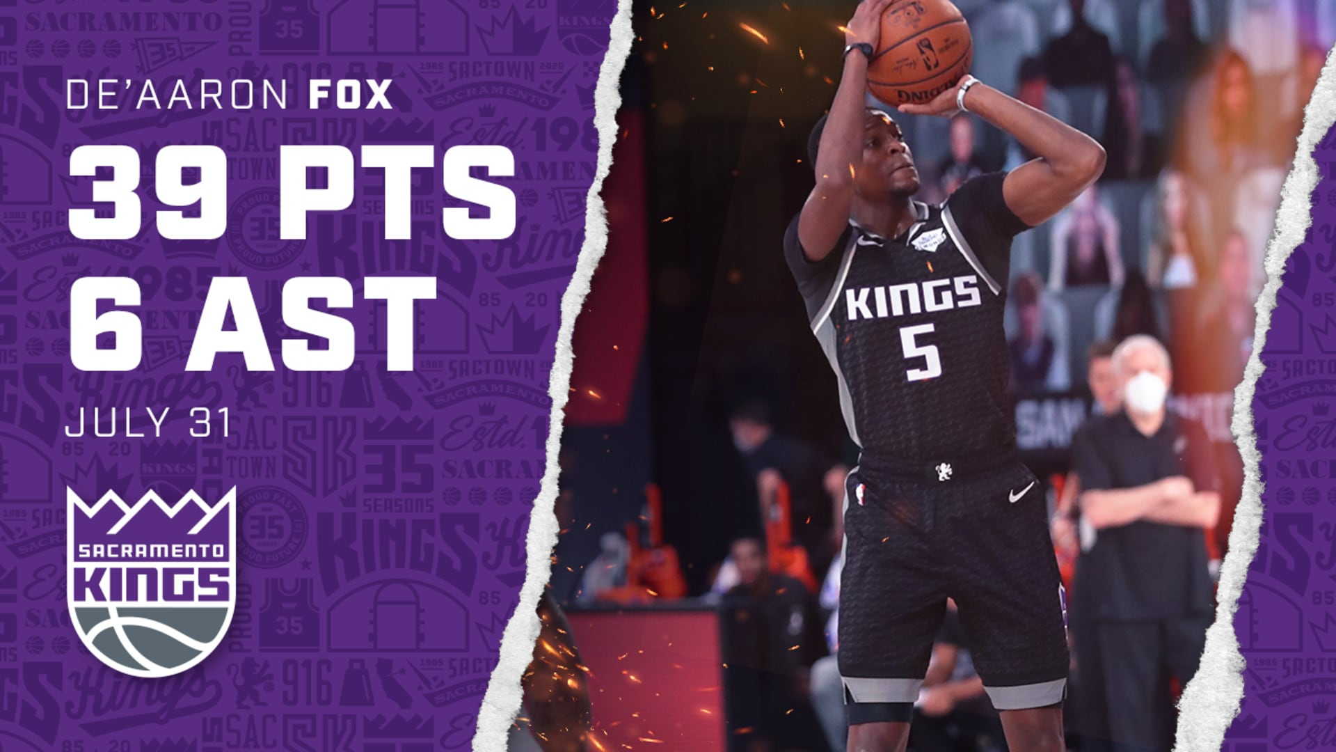 De'Aaron Fox Drops a CAREER-HIGH 39 Points | Kings vs Spurs 7.31.20