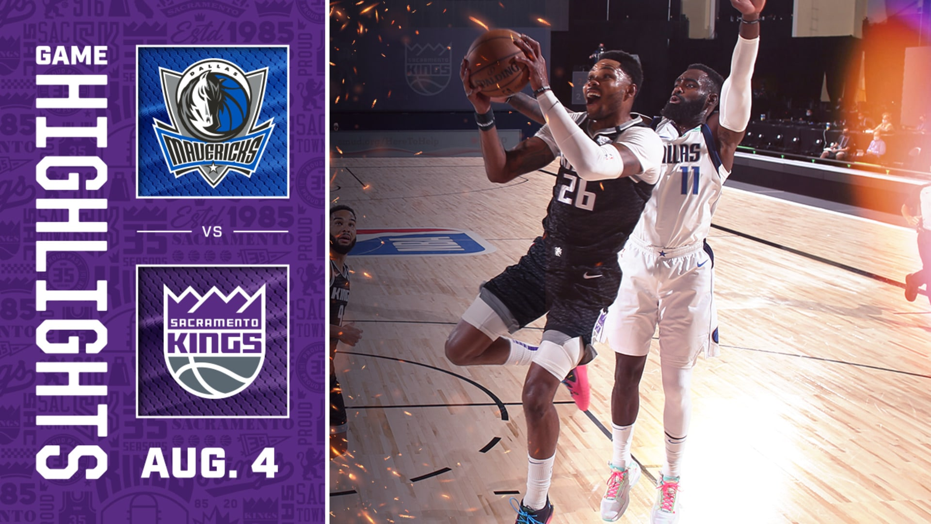 Kings Battle in an OT Thriller | Kings vs Mavs 8.4.20