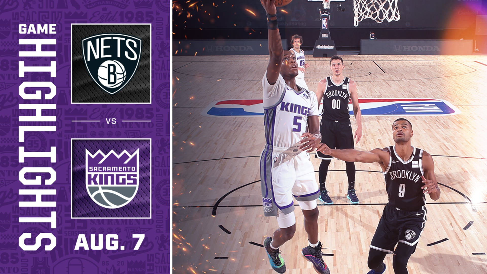 Kings Falter on the Back-to-Back | Kings vs Nets 8.7.20