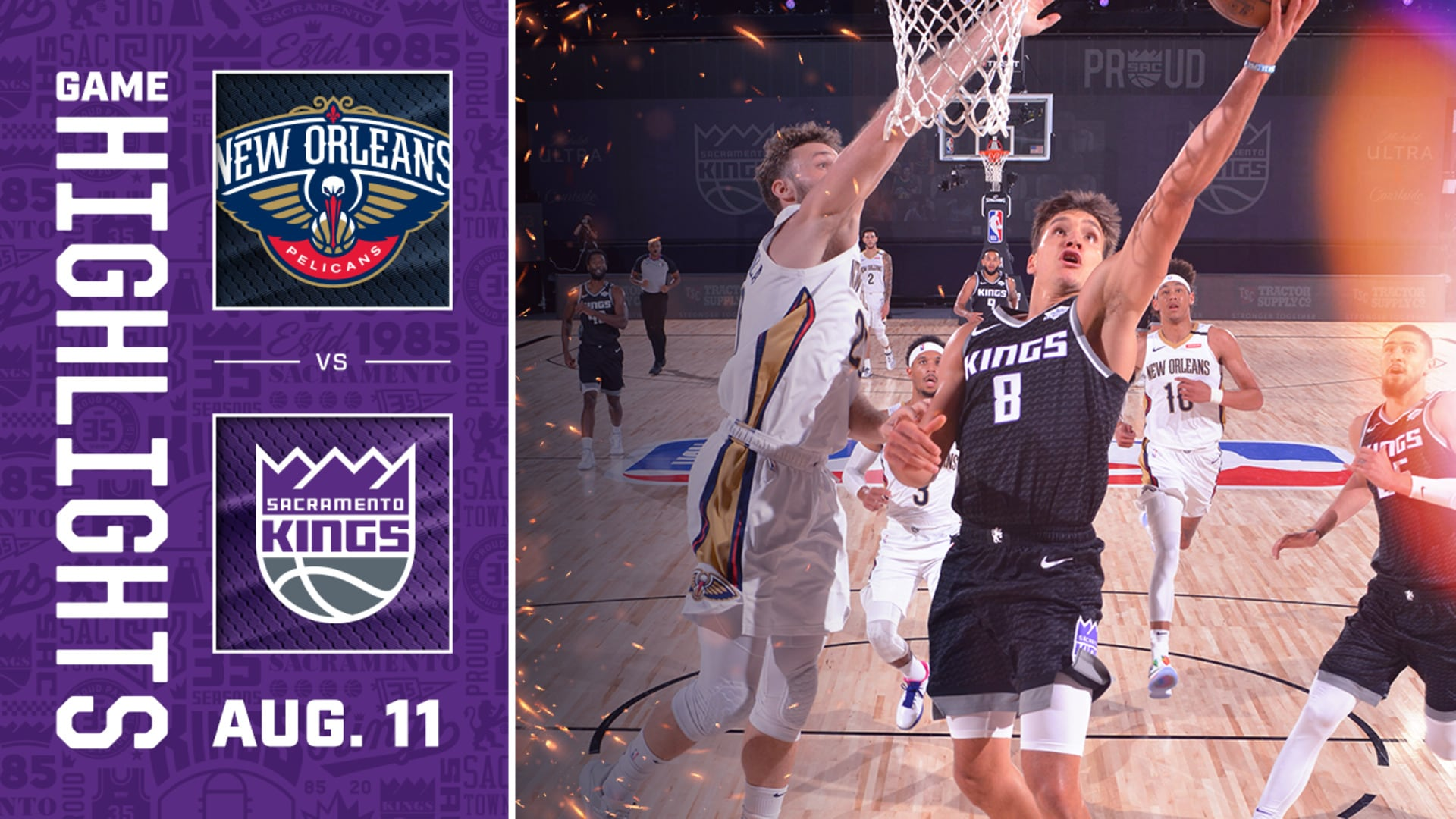Kings Secure Another W | Kings vs Pelicans 8.11.20