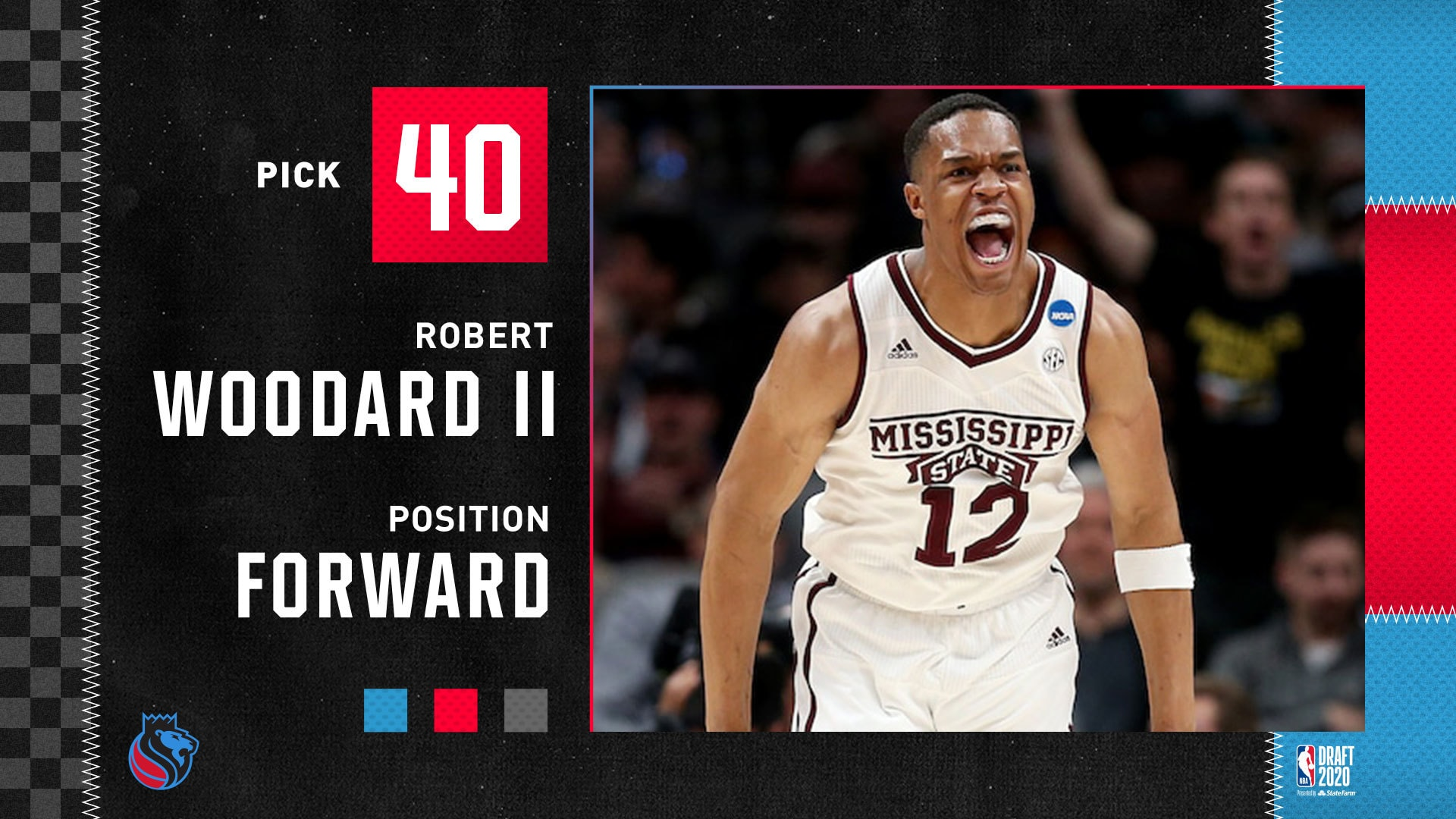 2020 NBA Draft | Kings Select Robert Woodard II at No. 40