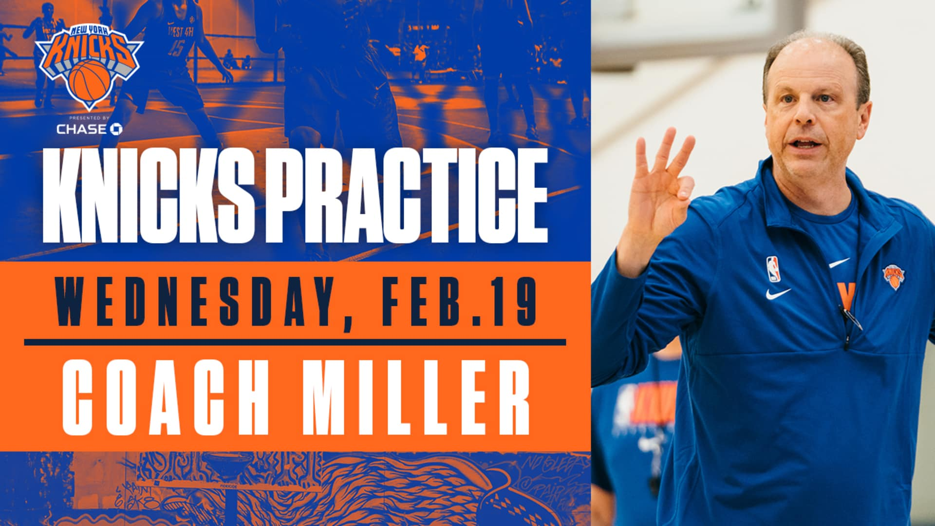 Knicks Practice: Coach Miller | February 19