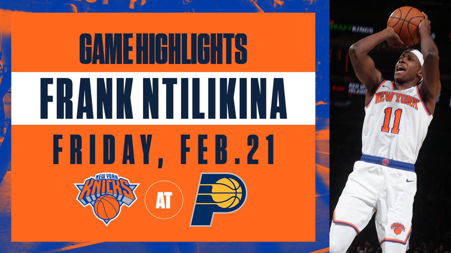 Highlights: Frank Ntilikina (14 Points) | Knicks vs. Pacers