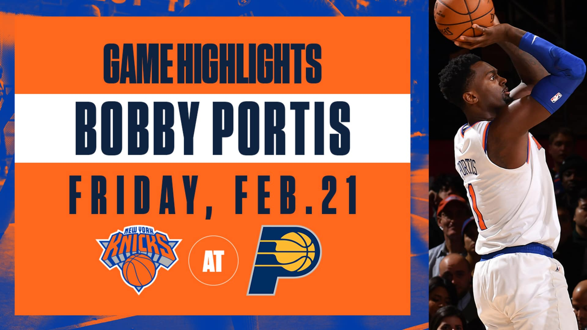 Highlights: Bobby Portis (19 Points) | Knicks vs. Pacers