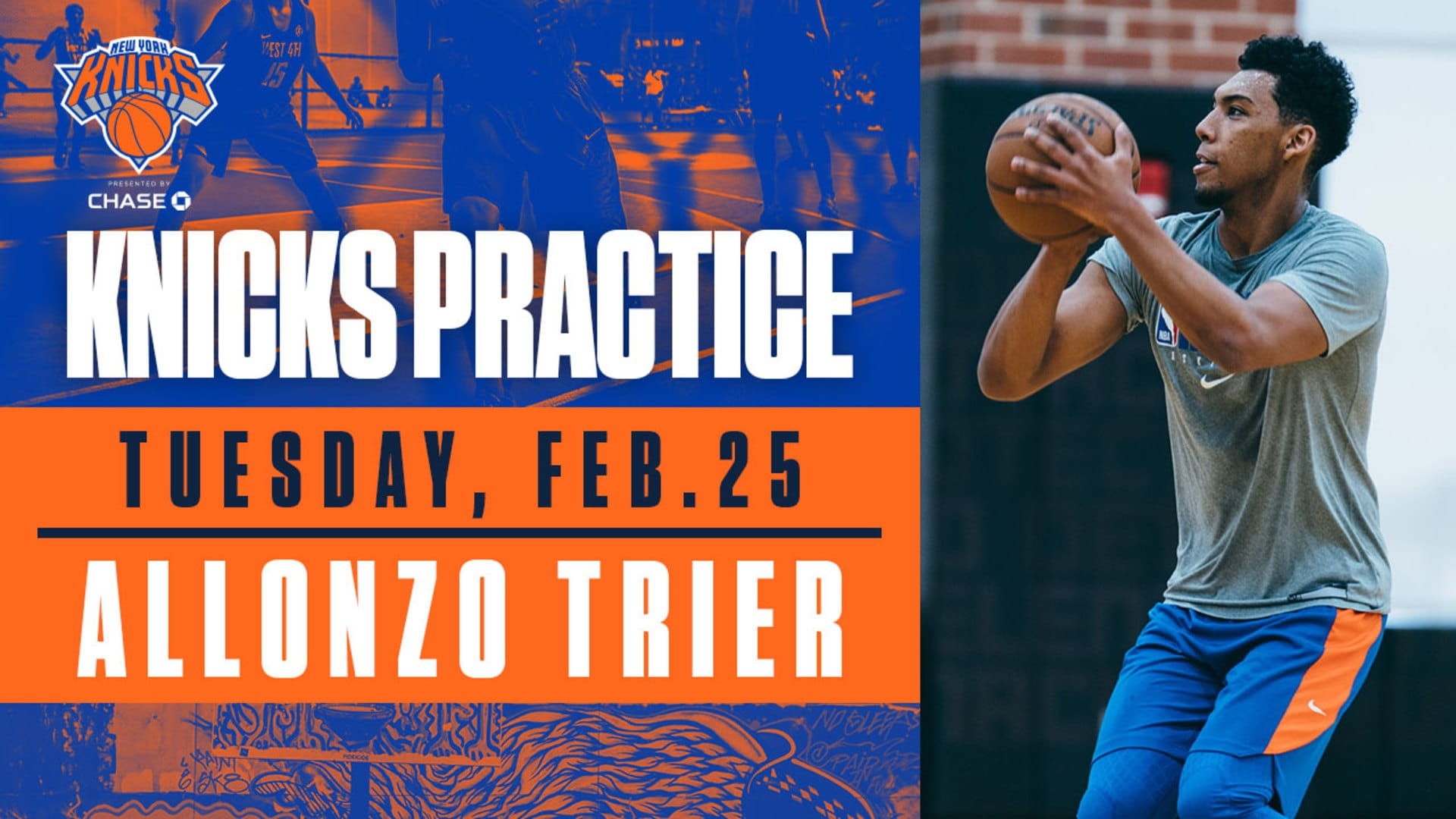 Knicks Practice: Allonzo Trier | February 25
