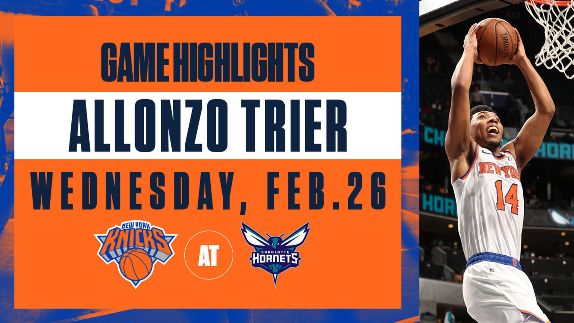 Highlights: Allonzo Trier (15 Points) | Knicks @ Hornets