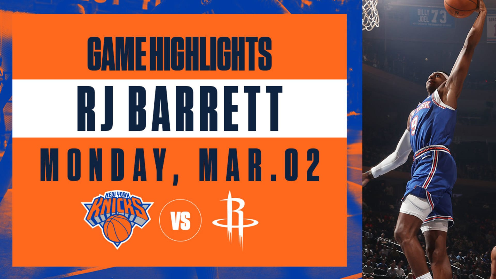 Highlights: RJ Barrett (27 Points) | Knicks vs. Rockets