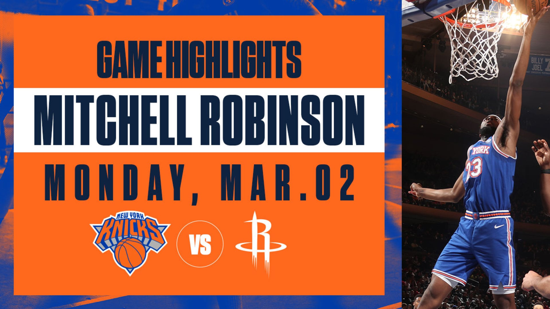 Highlights: Mitchell Robinson (12 Pts / 13 Reb) | Knicks vs. Rockets