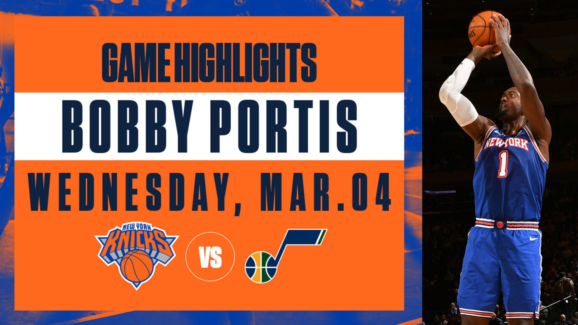 Highlights: Bobby Portis (21 Points) | Knicks vs. Jazz