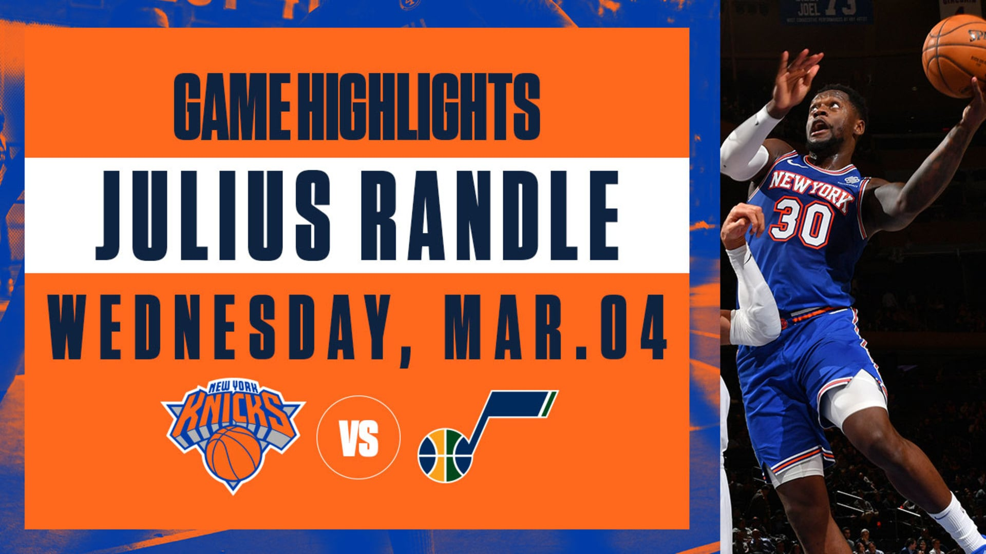 Highlights: Julius Randle (32 Pts / 11 Reb) | Knicks vs. Jazz