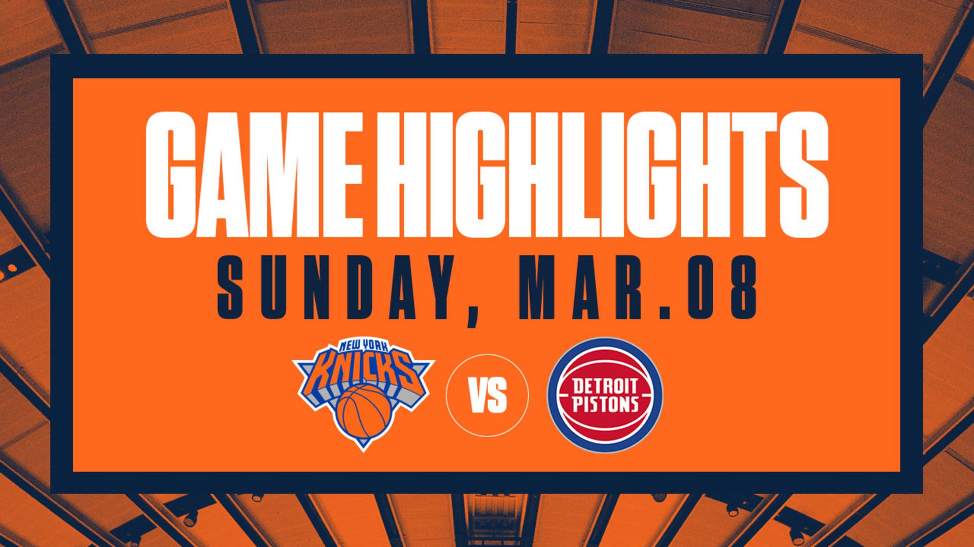 Highlights: Knicks 96 | Pistons 84