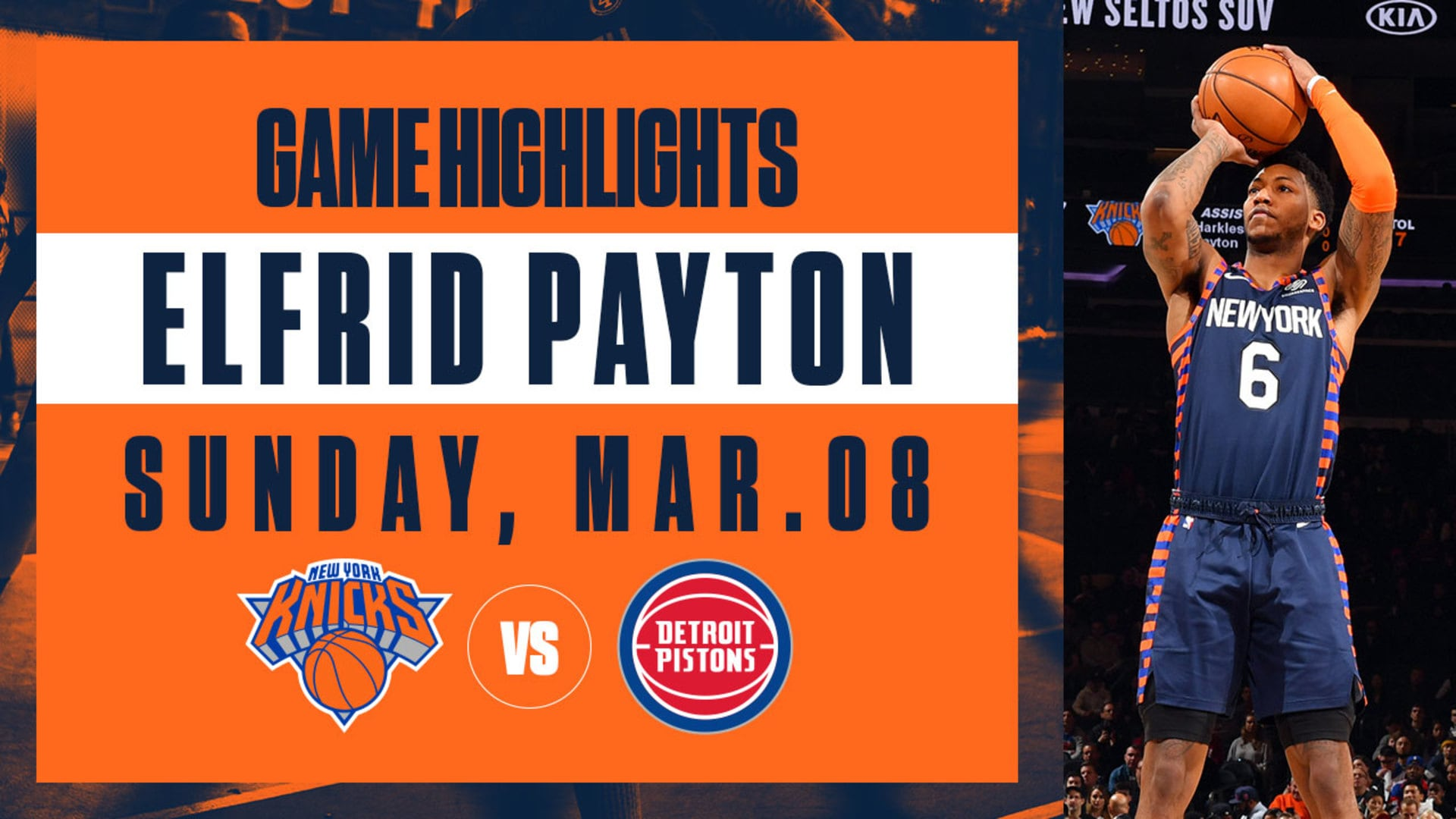 Highlights: Elfrid Payton (16 Points) | Knicks vs. Pistons