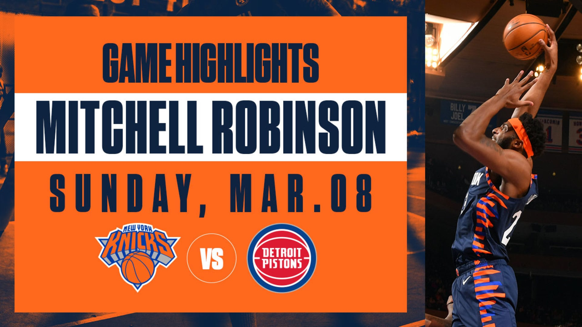 Highlights: Mitchell Robinson (14 Pts / 11 Reb) | Knicks vs. Pistons