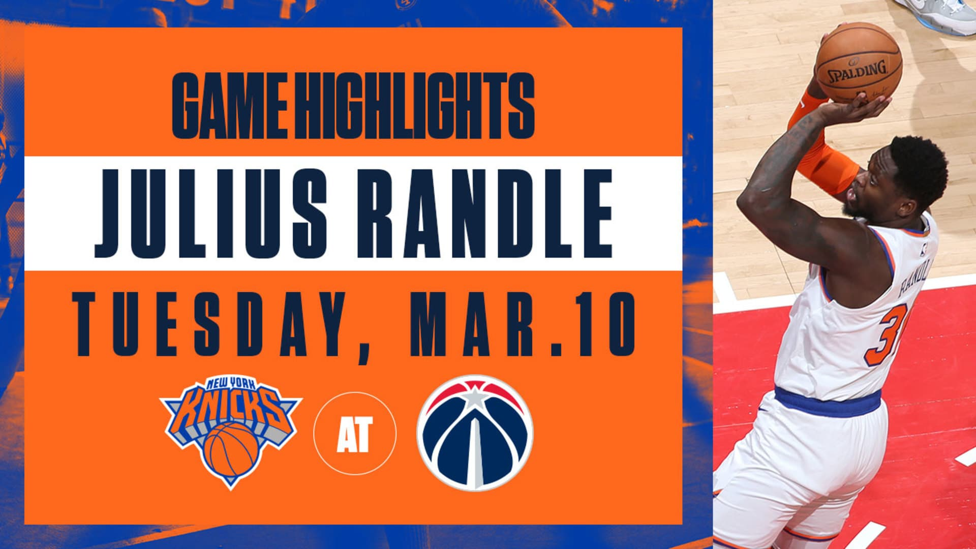 Highlights: Julius Randle (16 Points) | Knicks @ Wizards