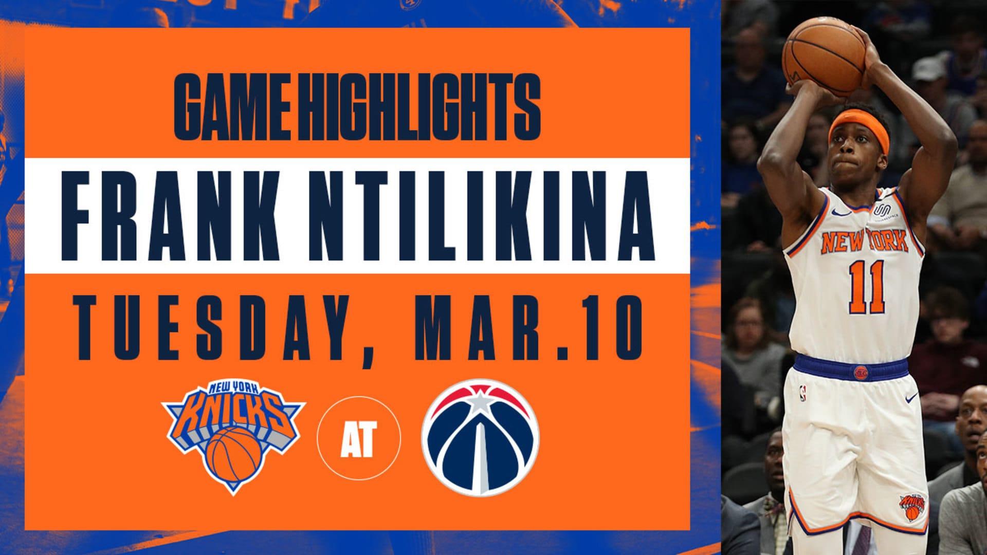 Highlights: Frank Ntilikina (20 Pts / 10 Ast) | Knicks @ Wizards