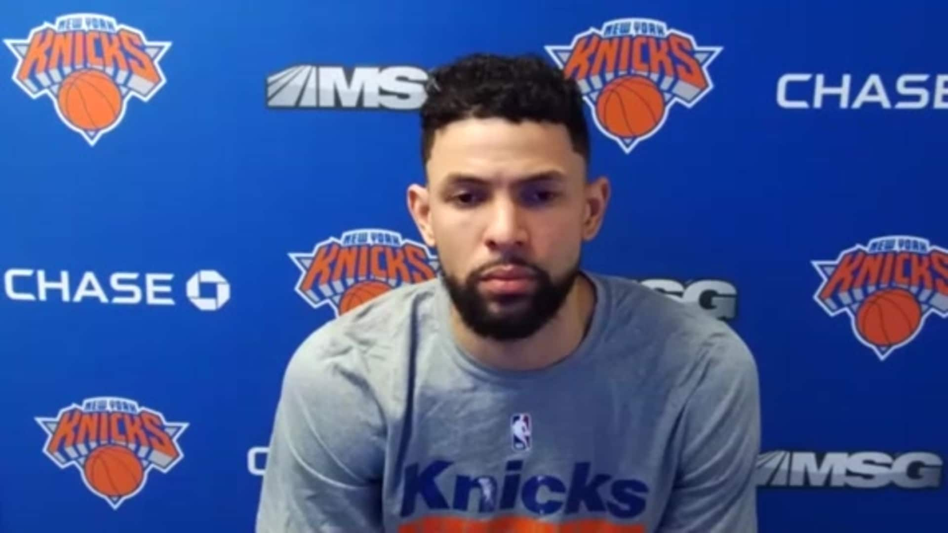 2020 Knicks Media Day Austin Rivers Press Conference New York Knicks