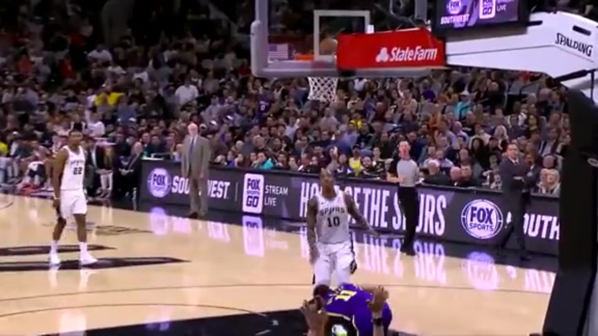 LeBron James with One of the Day's Best Assists