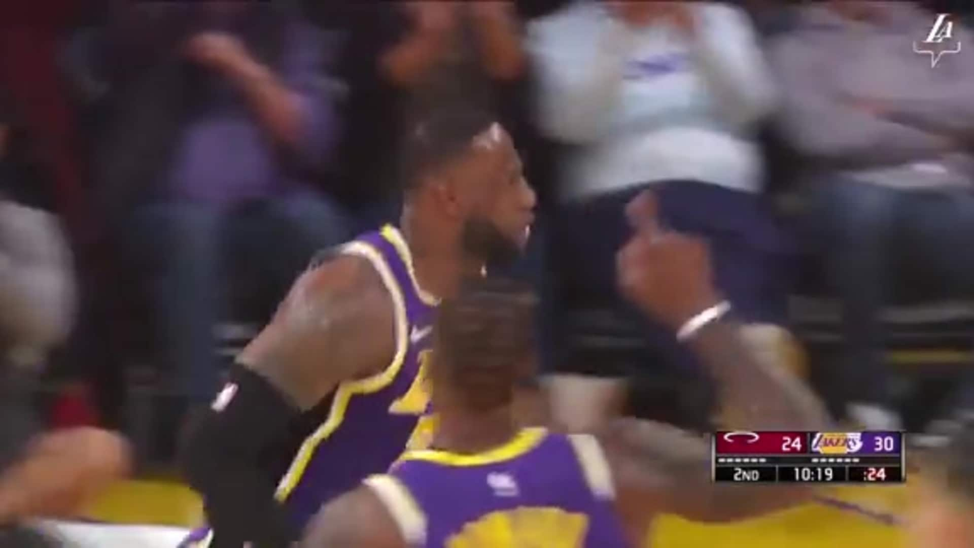 Alex Caruso to a Slashing LeBron James