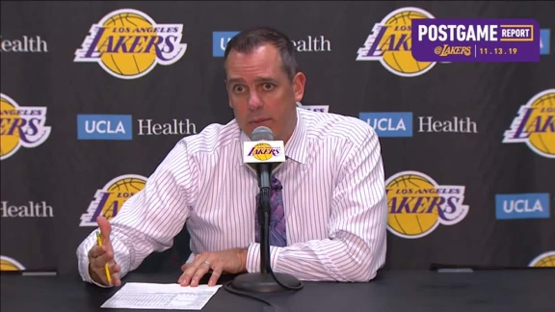 Lakers Postgame: Frank Vogel (11/13/19)