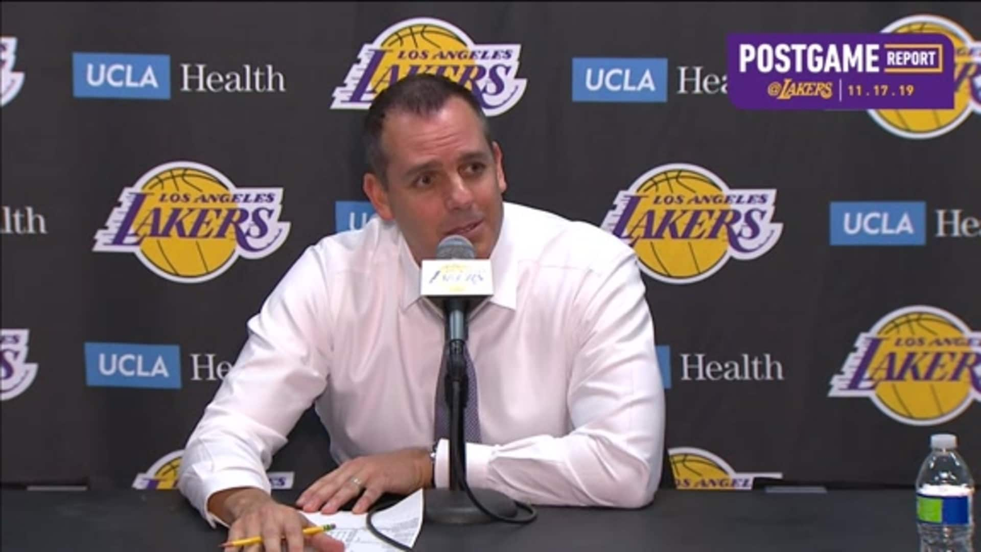 Lakers Postgame: Frank Vogel (11/17/19)