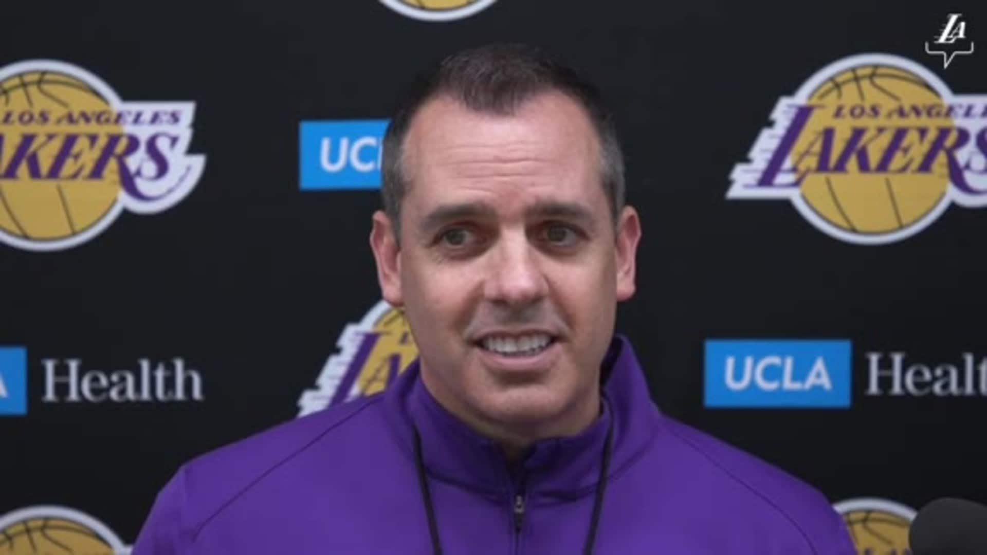 Lakers Shootaround: Frank Vogel (11/19/19)
