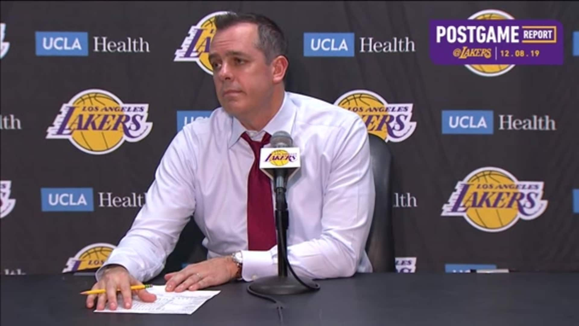 Lakers Postgame: Frank Vogel (12/8/19)