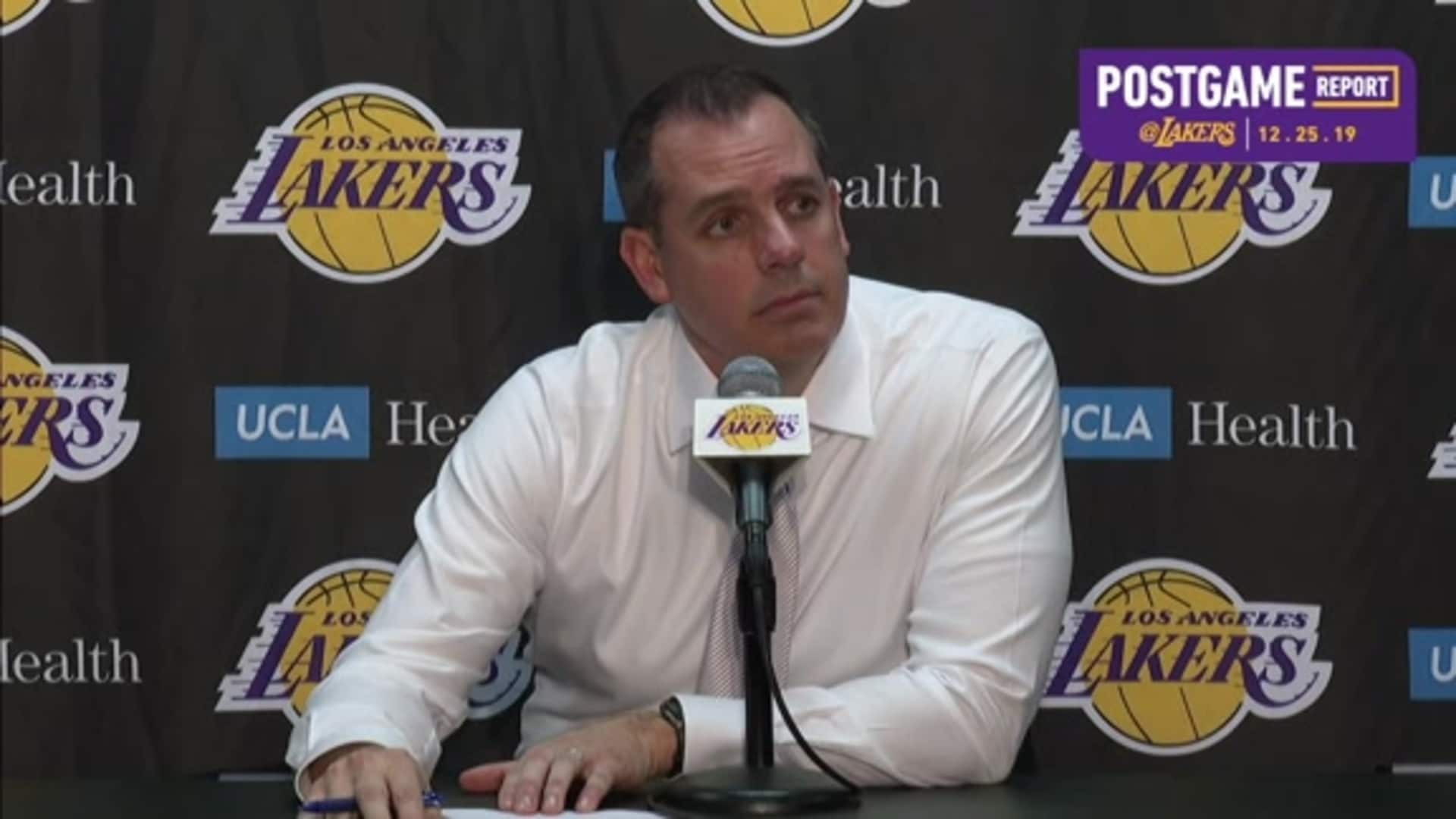 Lakers Postgame: Frank Vogel (12/25/19)