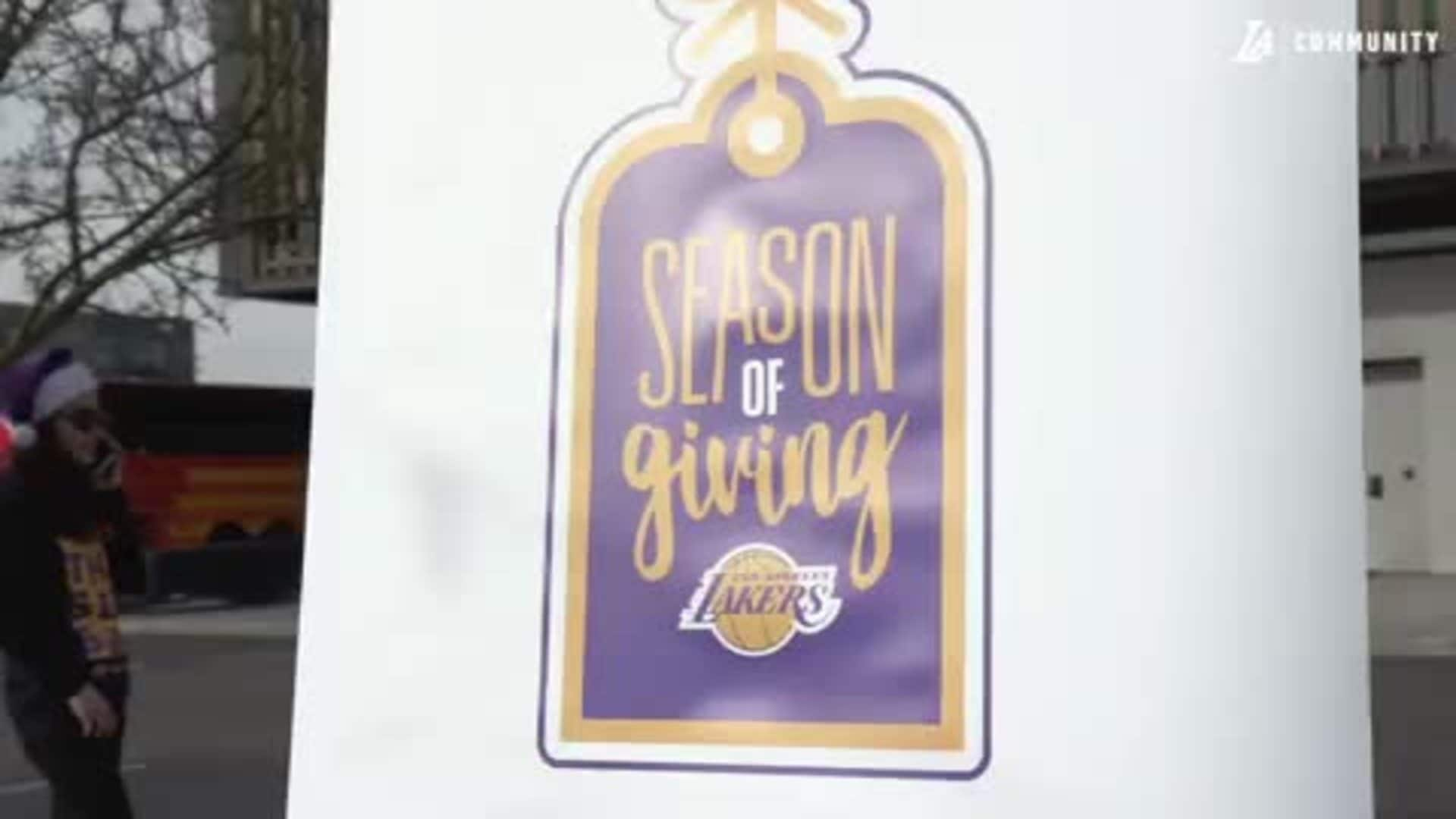 Lakers' Season of Giving presented by East West Bank