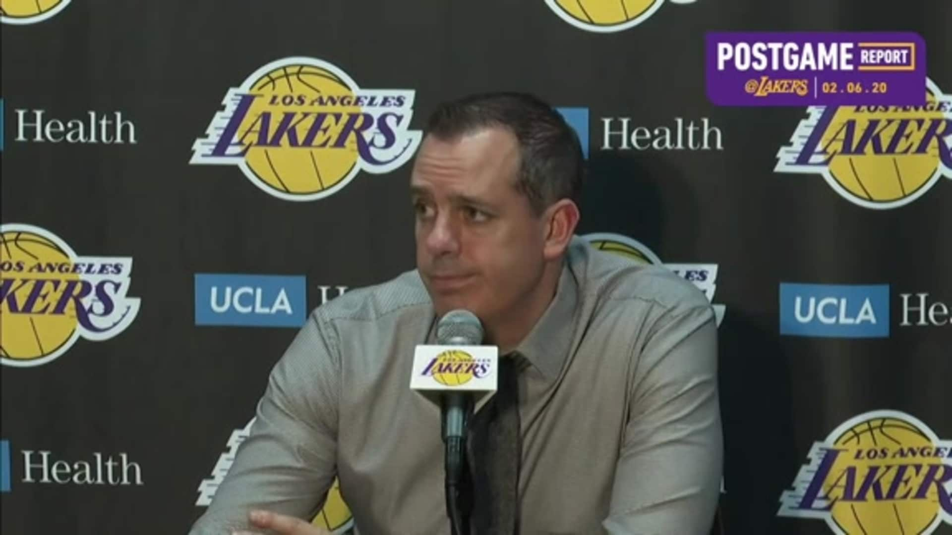 Lakers Postgame: Frank Vogel (2/6/20)