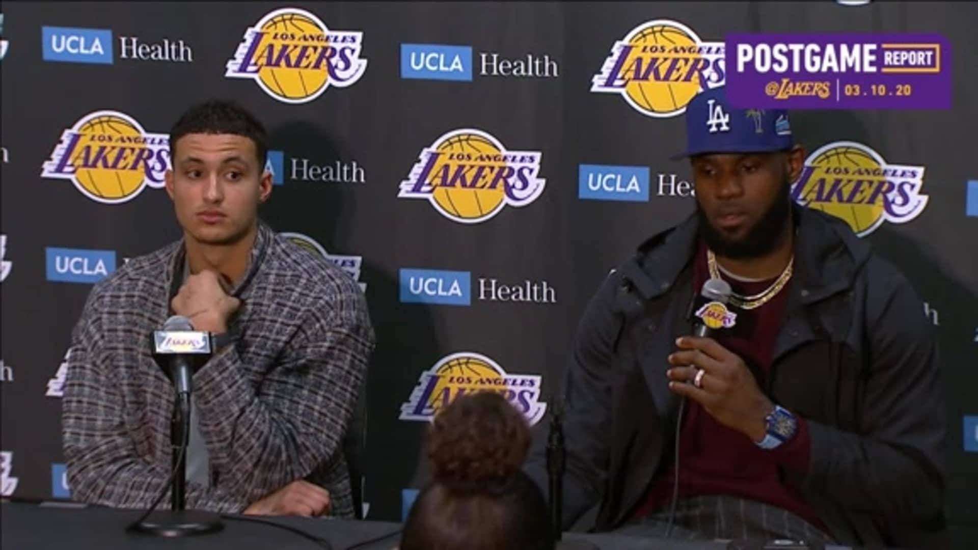 Lakers Postgame: LeBron James & Kyle Kuzma (3/10/20)