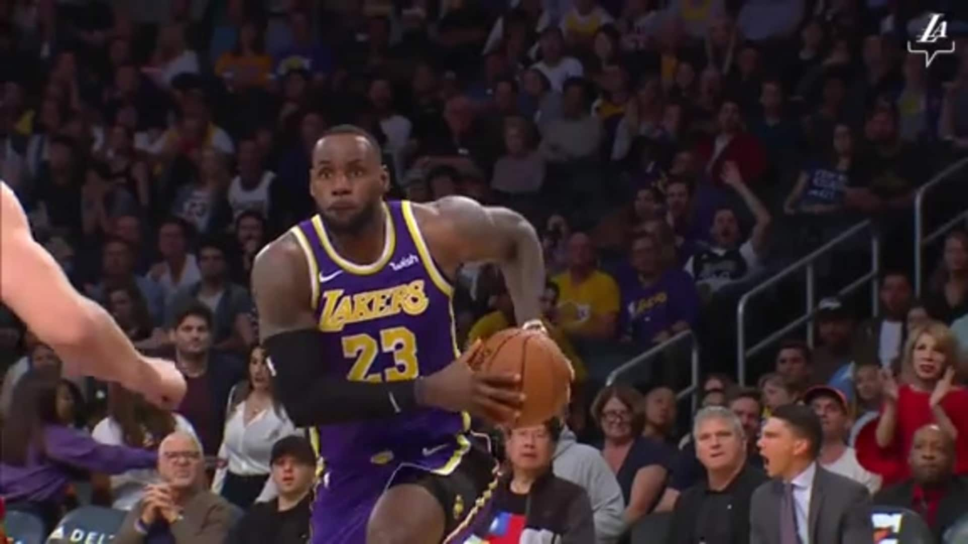 LeBron's Best Dunks of the Season