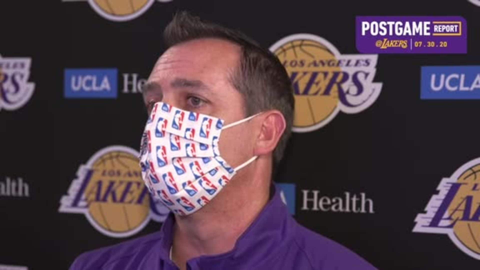 Lakers Postgame: Frank Vogel (7/30/20)