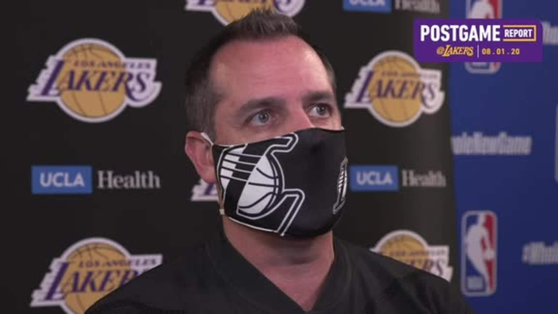 Lakers Postgame: Frank Vogel (8/1/20)