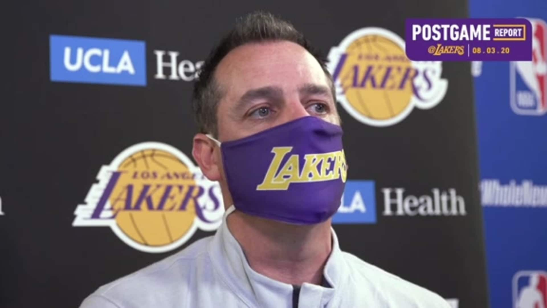 Lakers Postgame: Frank Vogel (8/3/20)