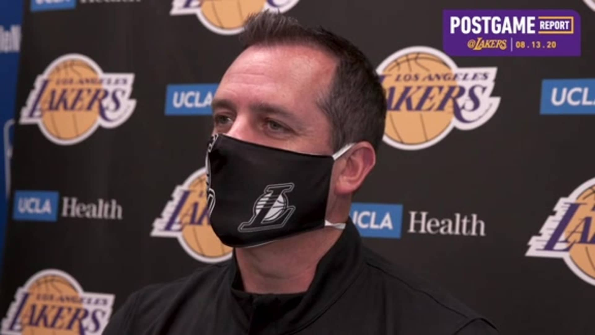 Lakers Postgame: Frank Vogel (8/13/20)