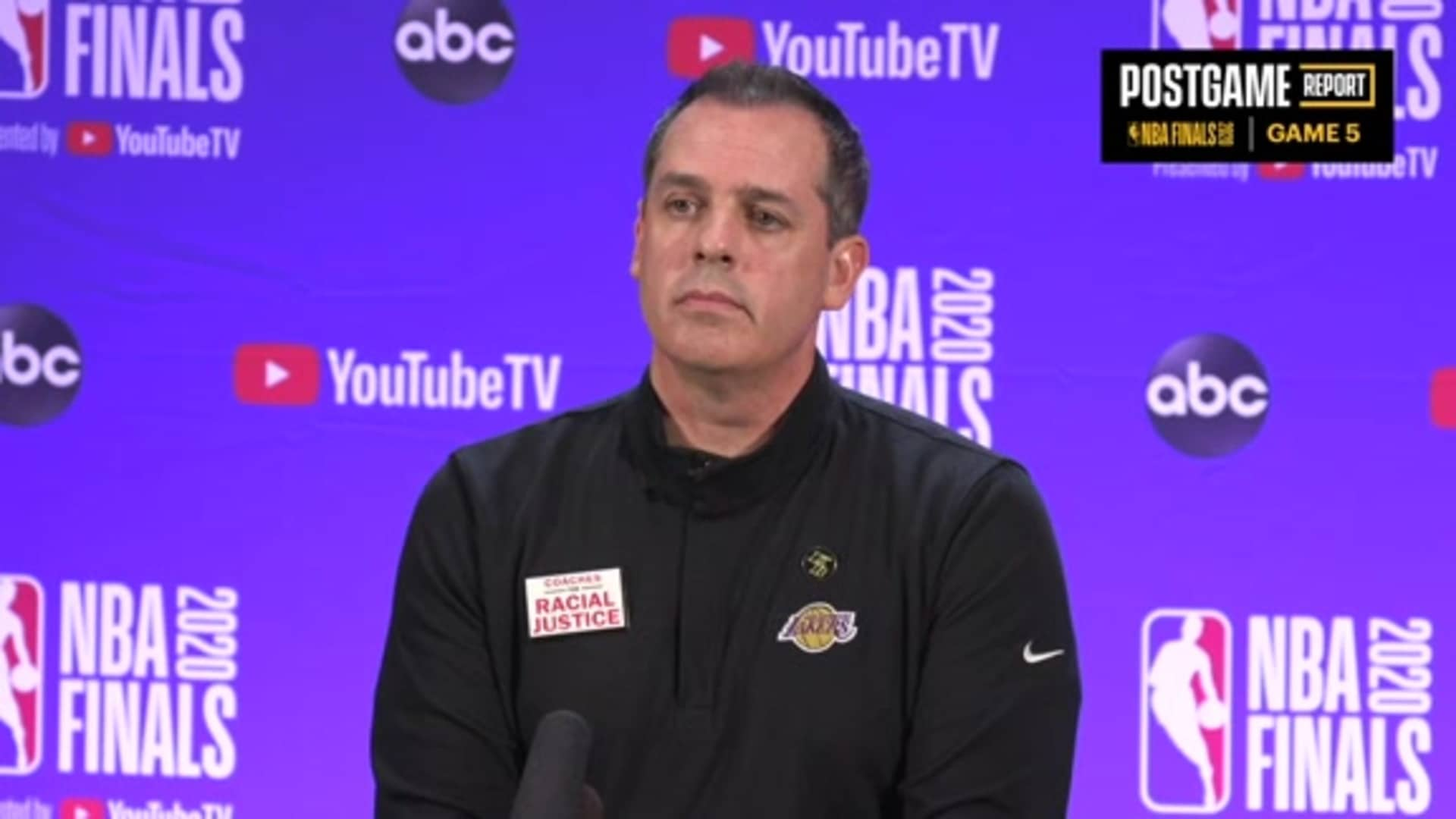 Lakers Postgame: Frank Vogel (10/09/20)
