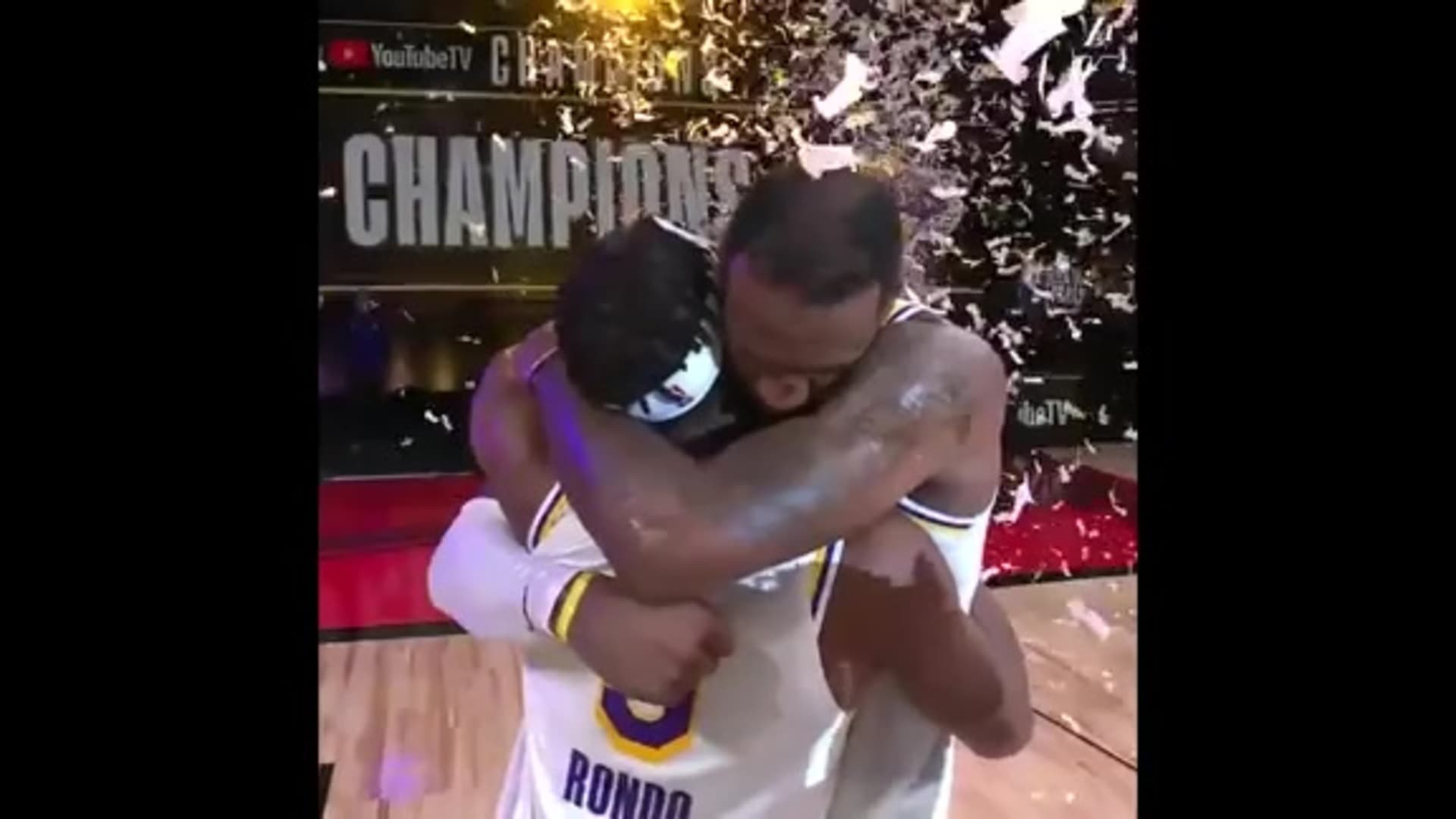 LeBron Celebrates as Lakers Clinch the Title