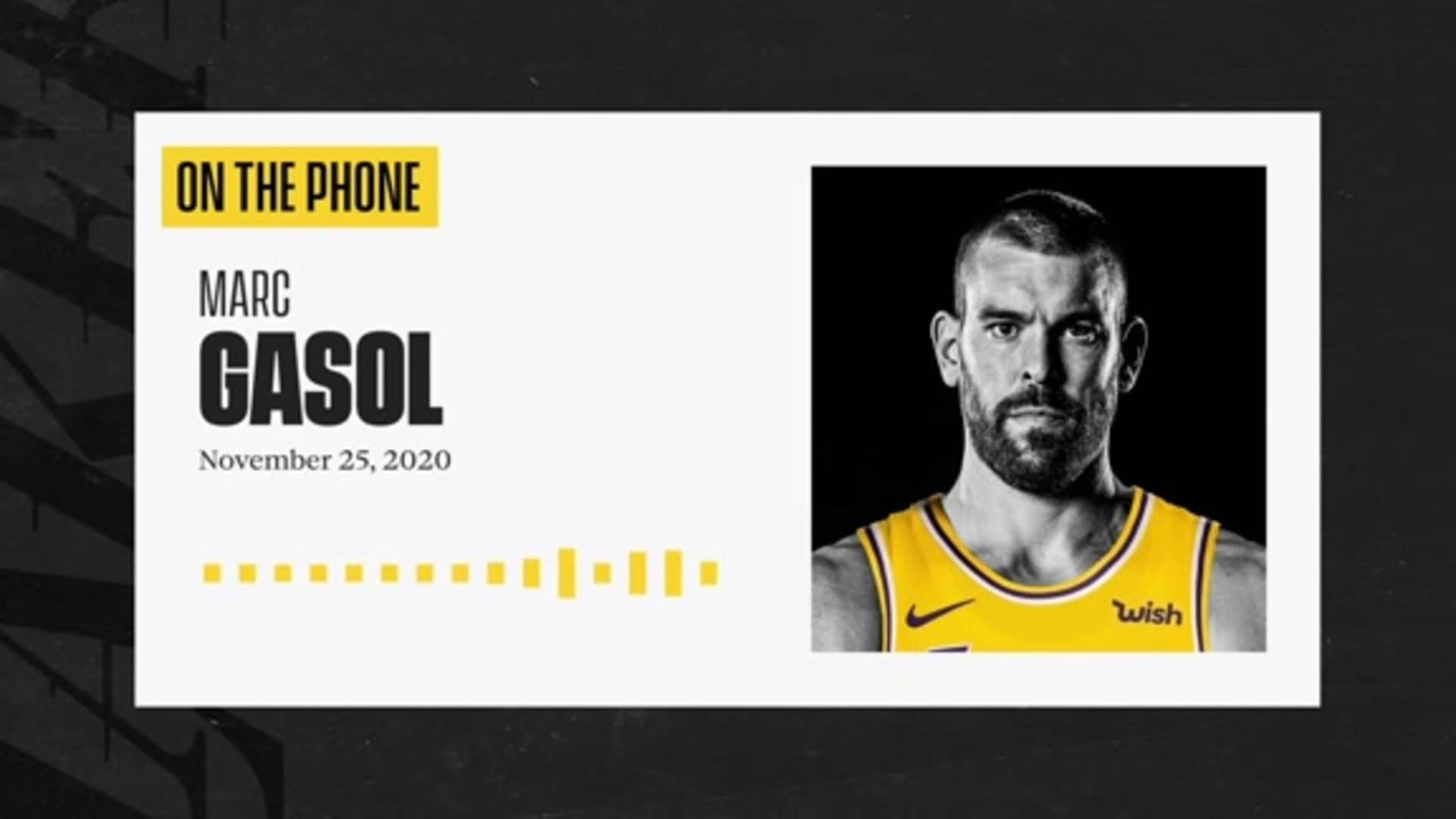 Intro Press Conference: Marc Gasol (11/25/20)
