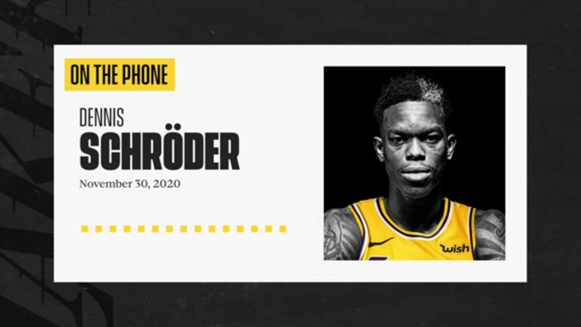 Intro Press Conference: Dennis Schröder (11/30/20)