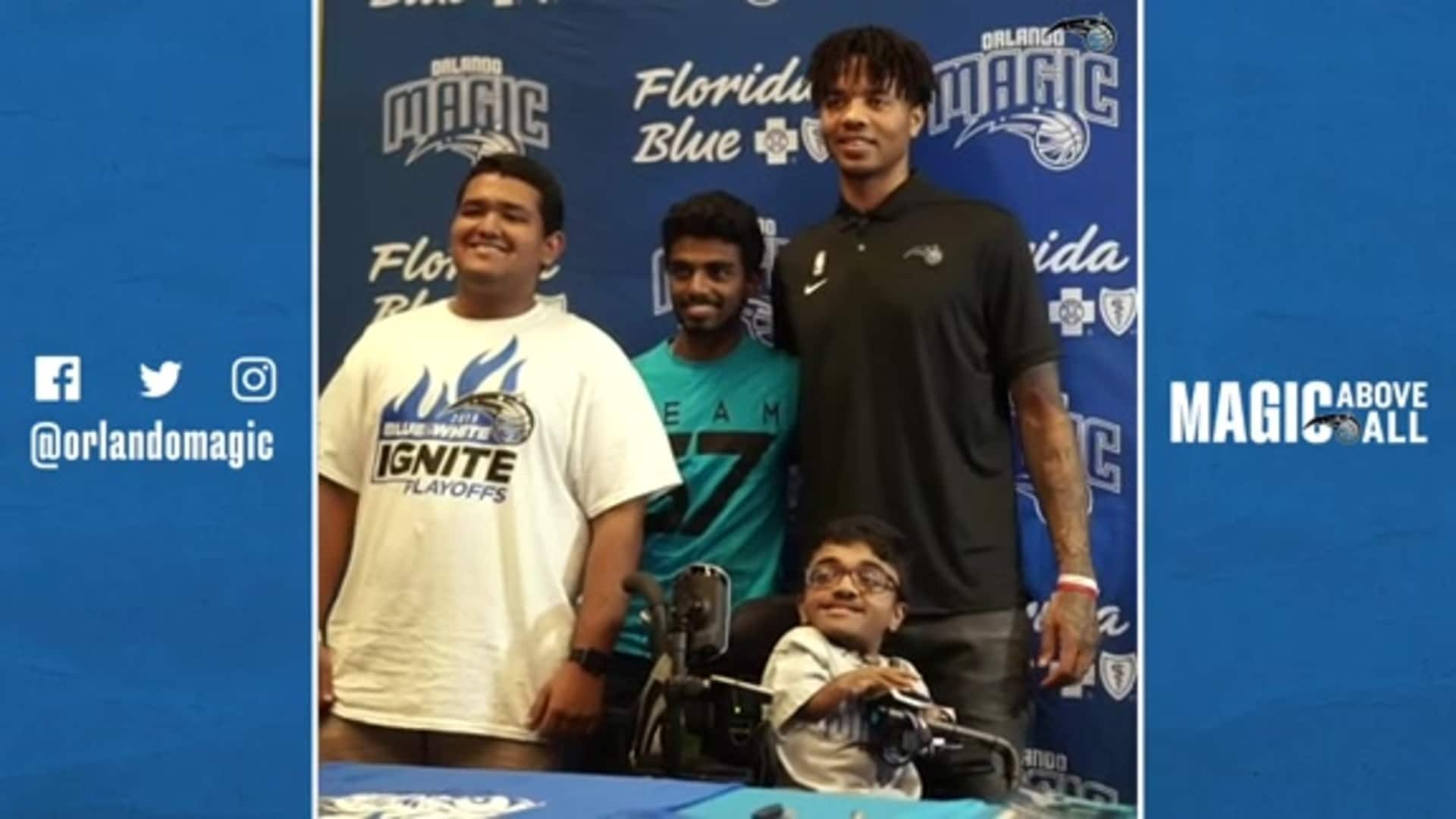 Markelle, Magic and Florida Blue Team Up For Basket For Books