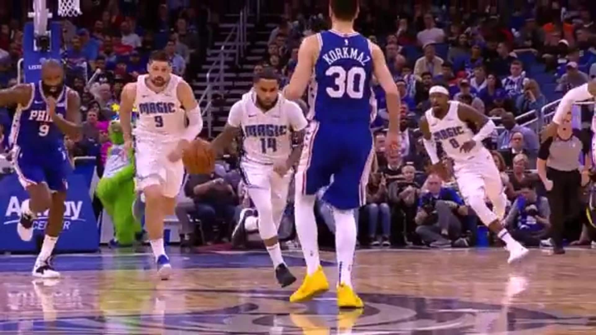 No Look: D.J. to MCW