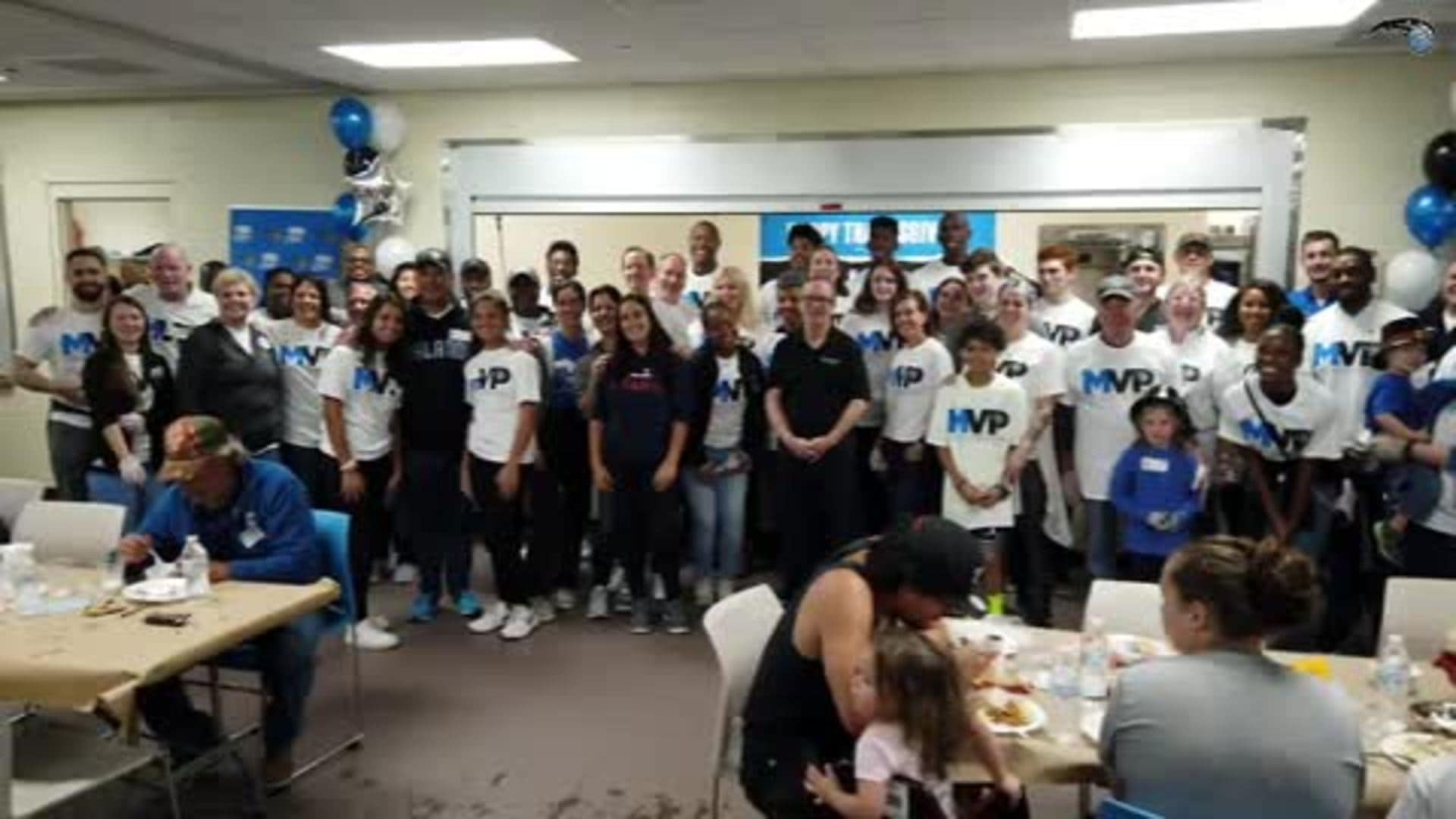 Magic Celebrate Thanksgiving at Coalition for the Homeless