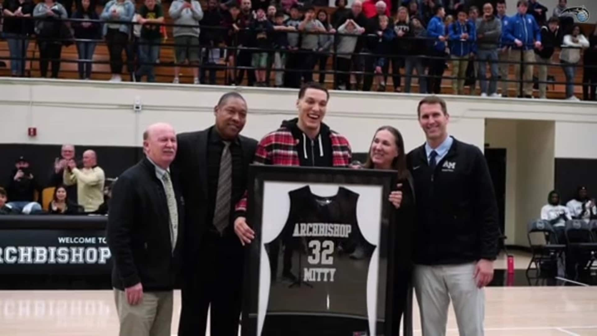 Aaron Gordon's High School Jersey Retirement