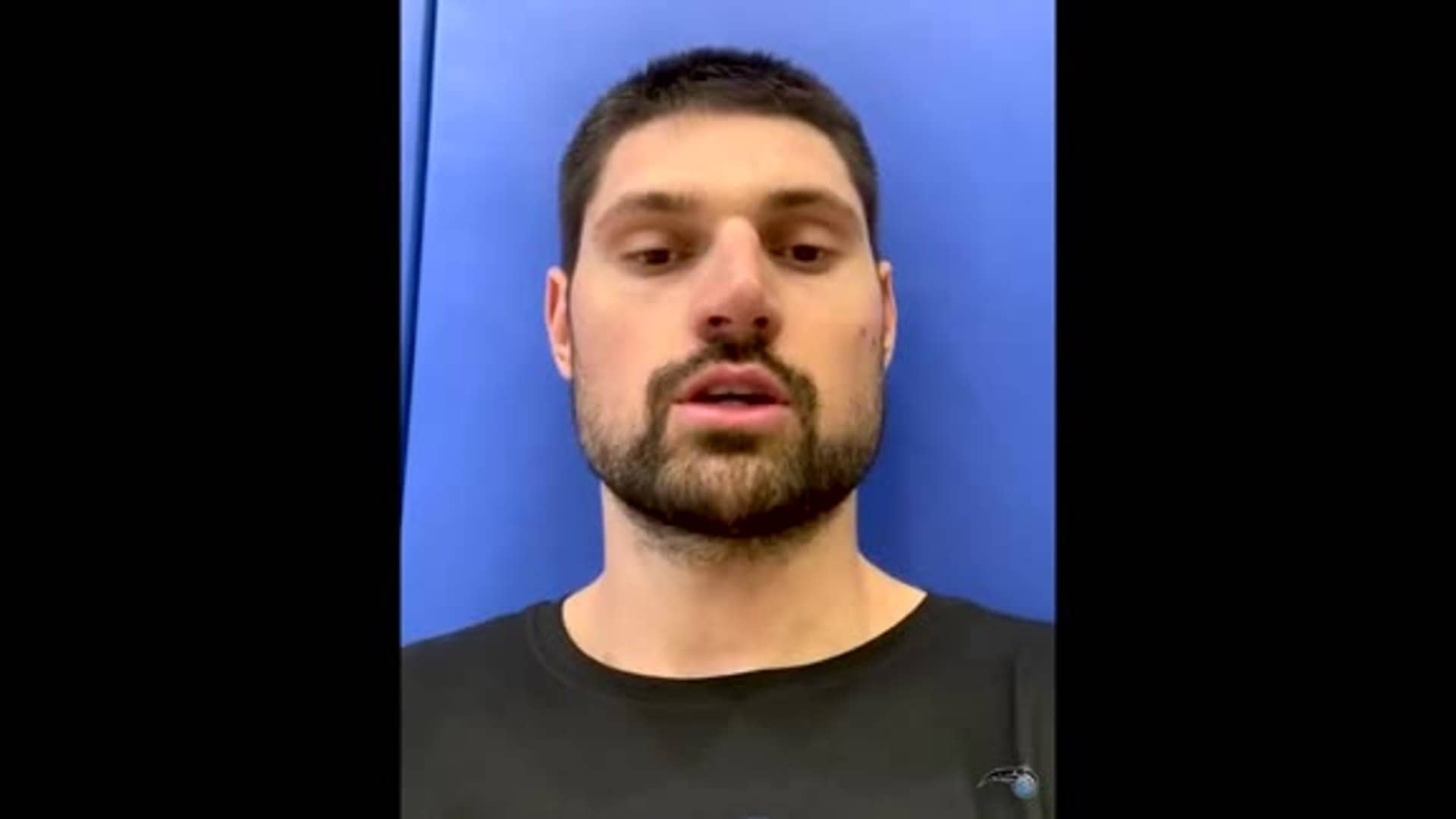 Vucevic on Magic Reopening Practice Facility