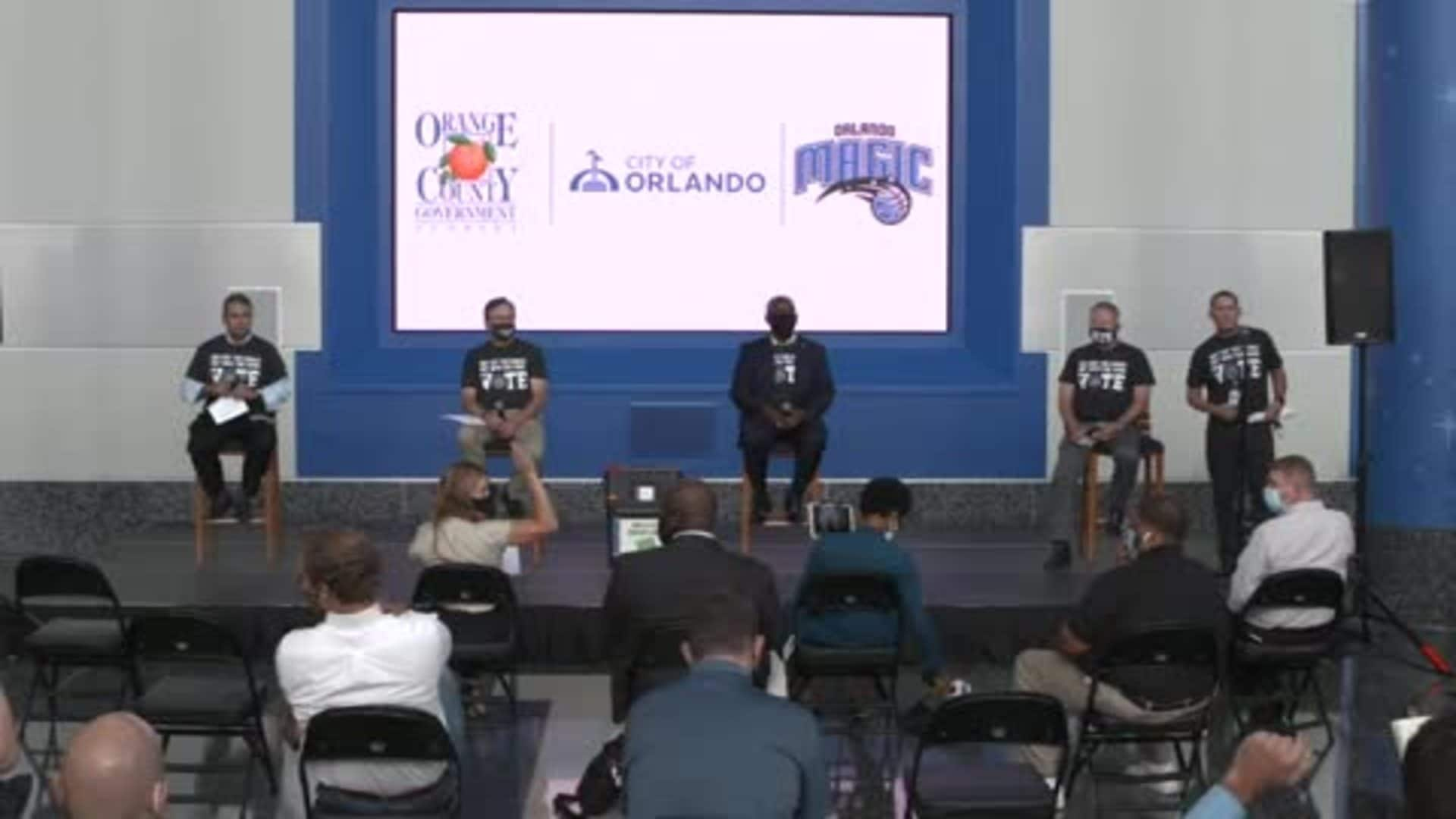Press Conference: Magic Join City of Orlando to Open Amway Center as Early Voting Location