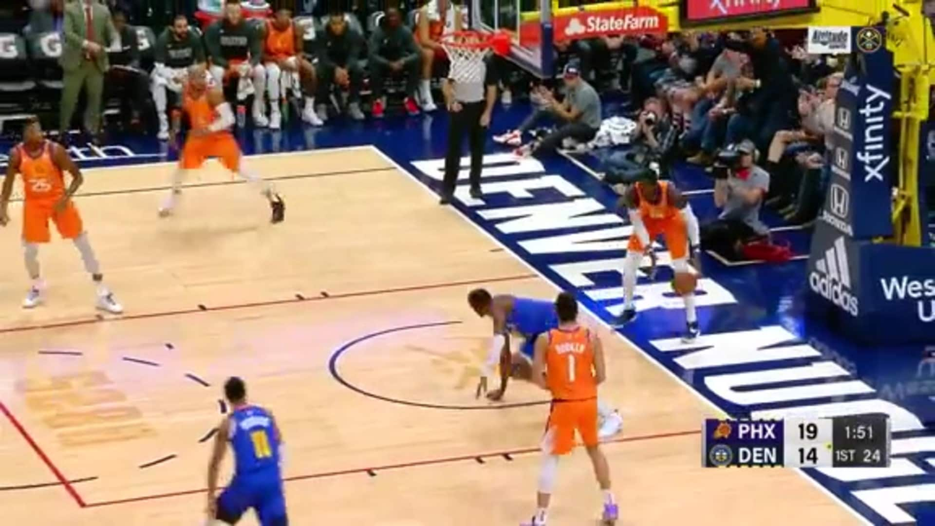 Jerami Grant fast break dunk vs. Phoenix Suns